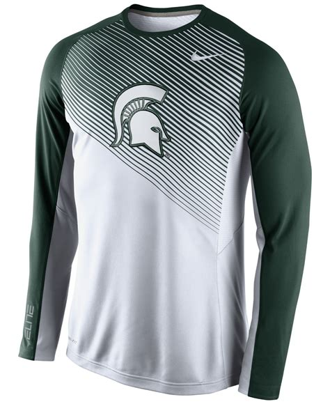 Lyst - Nike Men'S Long-Sleeve Michigan State Spartans