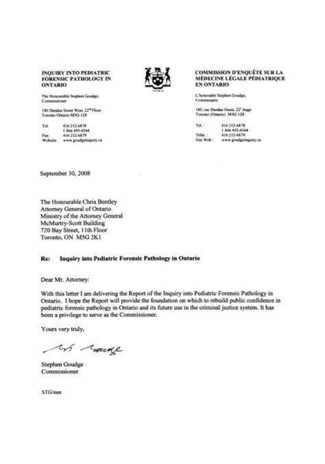 Inquiry into pediatric forensic pathology in ontario