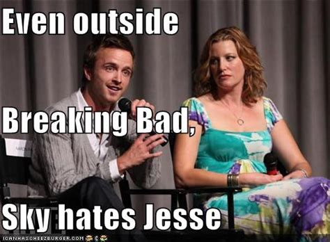 Even outside Breaking Bad, Sky hates Jesse - Cheezburger