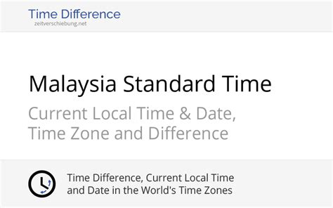 MST - Malaysia Standard Time: Current local time