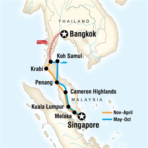 Bangkok to Singapore on a Shoestring in Malaysia, Asia - G