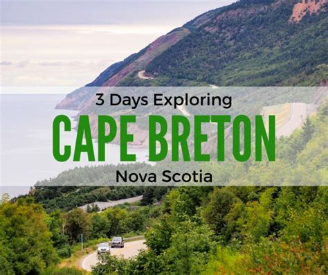 Is Exploring Cape Breton in 3 days too Much Time? Let's