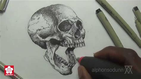 Drawing a Skull with Alphonso Dunn of 'Learn 2 Draw