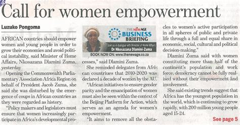 Call for women empowerment - The New Age - Gender Links