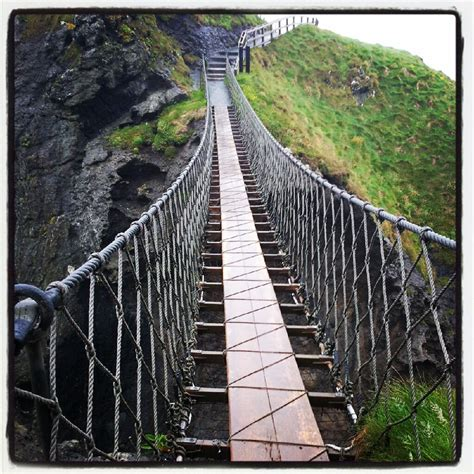 Carrick-a-Rede Rope Bridge is a famous rope bridge near