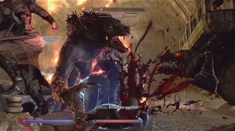 Skyrim Dawnguard : Playing as Vampire Lord and Werewolf at
