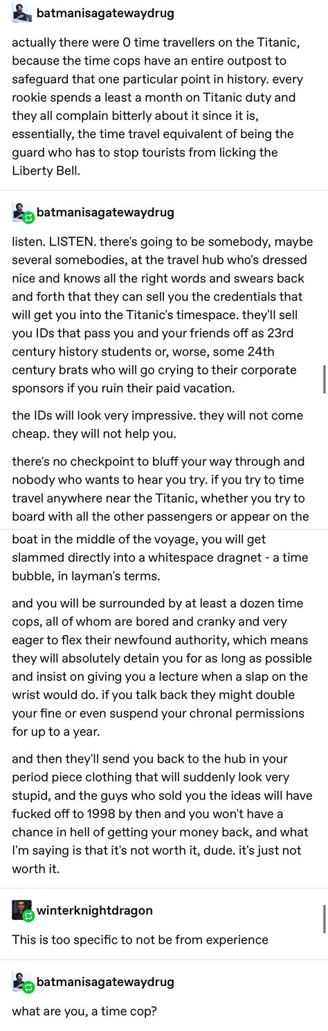 time travel restrictions : tumblr