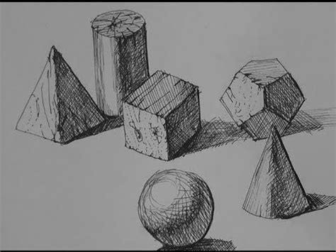 Pen & Ink Drawing Tutorials | How to shade simple forms